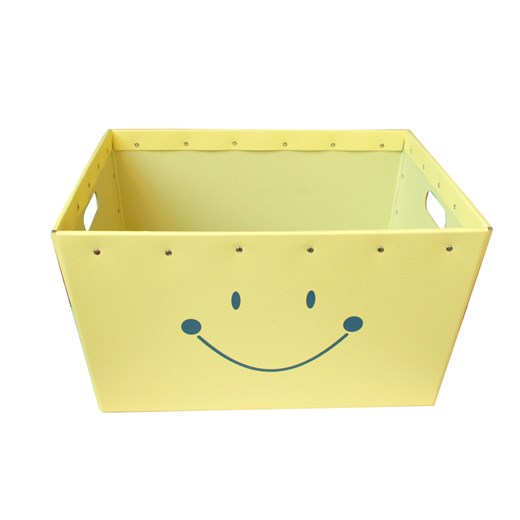 Conical  box yellow with a smile