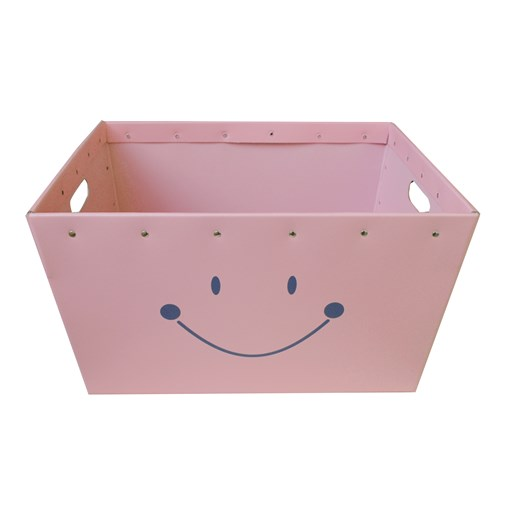 Conical box pink with a smile