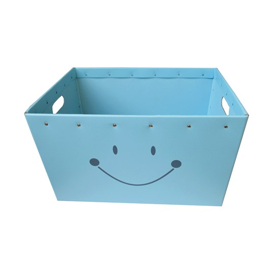 Conical box blue with a smile