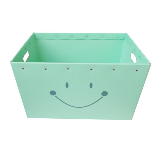 Conical box mint with a smile