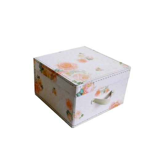 Square storage box 22 cm small roses
