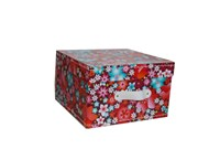 Square storage box 22 cm flowers