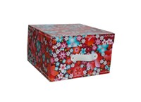 Square storage box 26 cm flowers