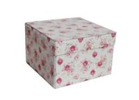 Square storage box 26 cm roses