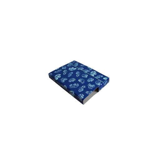 Folder A5 blue with contour of cars