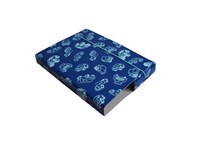 Folder A4 blue with contour of cars