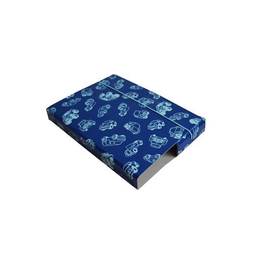 Folder A4 blue with contour of cars