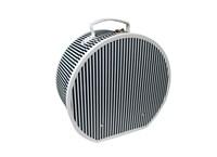 Hat box 40cm black with white stripes