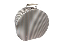 Hat box 40cm natural with white stripes