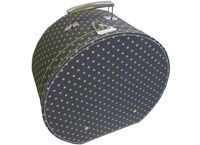 Hat box 40cm non-woven fabric with beige dots