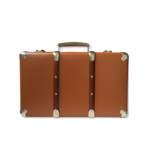 Riveted suitcase 30cm  brown