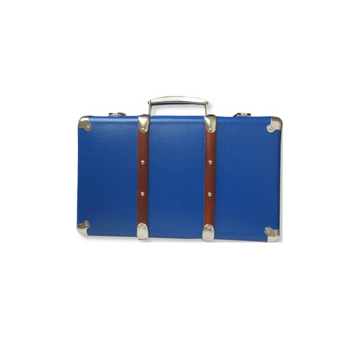 Riveted suitcase 30cm  blue
