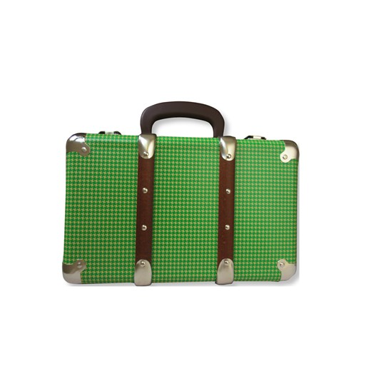 Riveted suitcase 30cm Pepito green