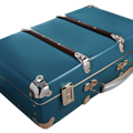 Riveted suitcase 50cm blue