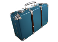 Riveted suitcase 40cm blue