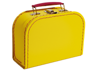Children´s suitcase 20cm yellow