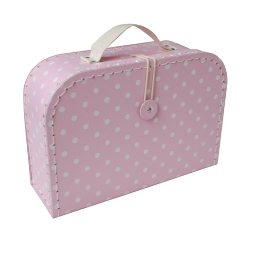 Children's suitcase 25cm pink with dots