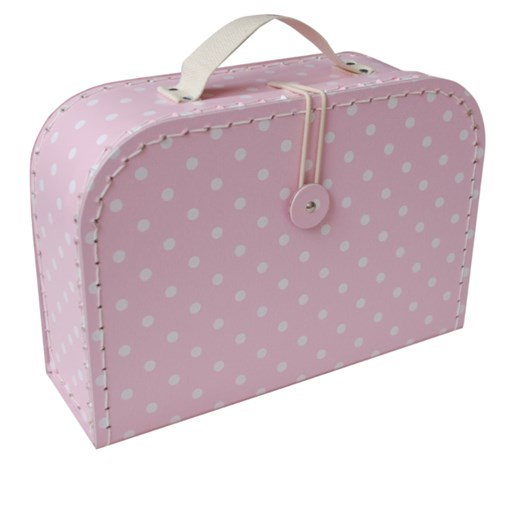 Children´s suitcase 30cm pink with dots