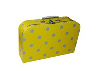 Children´s suitcase 35cm yellow with grey dots (2 cm)