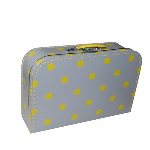 Children´s suitcase 35cm grey with yellow dots (2 cm)