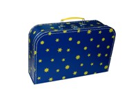Children´s suitcase 35cm blue with yellow stars