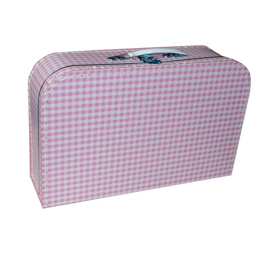 Children´s  suitcase 35cm pink with white squares
