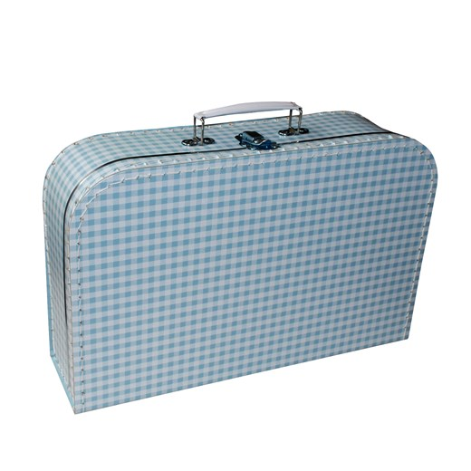 Children´s suitcase 35cm blue with white squares