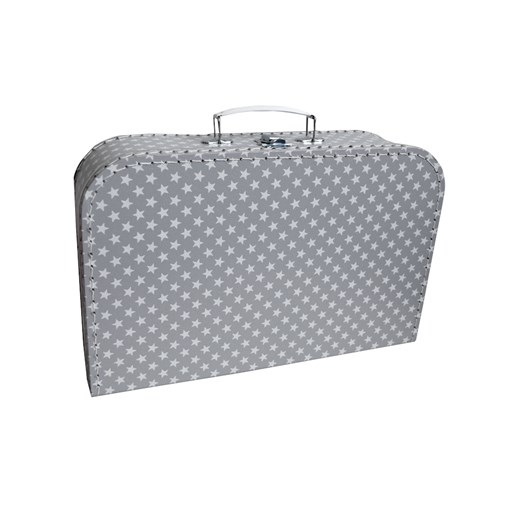 Children's suitcase 35cm grey with stars