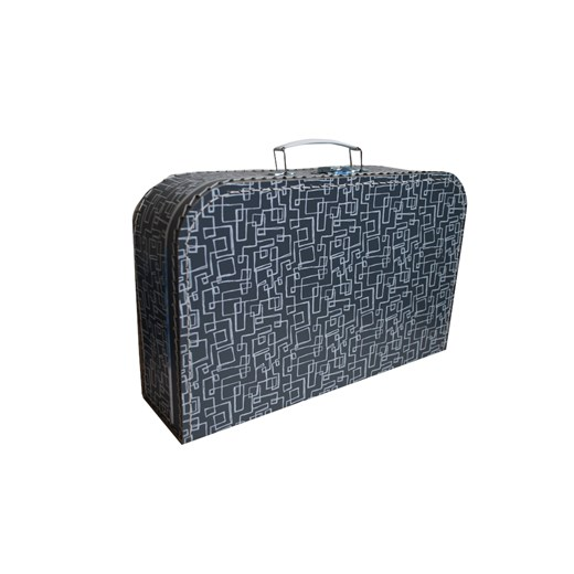 Children´s suitcase 35cm grey with white labyrinth