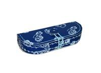 Pencil case blue with contour of cars