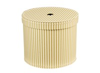 Round box 30cm natural with white stripes