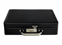 Leatherette suitcase