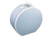 Hat box 40cm blue with white stripes
