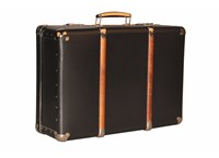 Riveted suitcase 55cm black