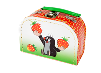 Children´s suitcase 16cm Mole and strawberries