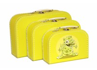 Children´s suitcase yellow monsters 3-set