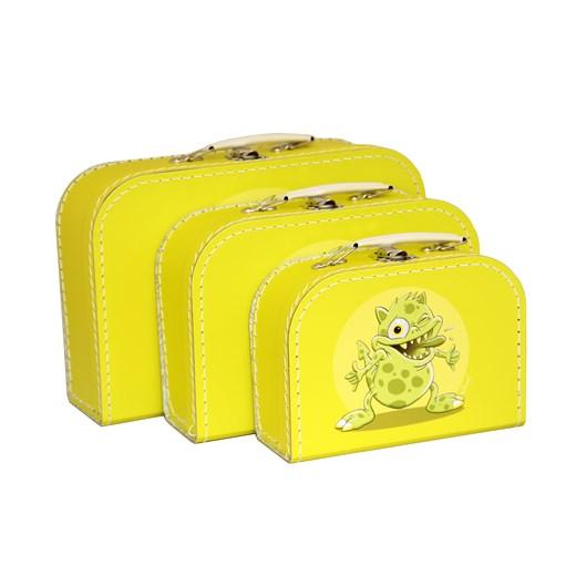 Children´s suitcase yellow monsters 3-set