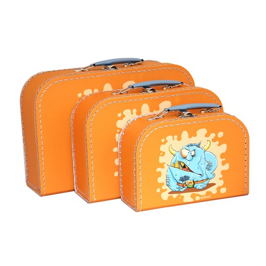 Children´s suitcase orange monsters 3-set