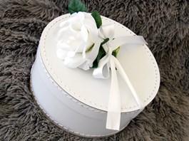 Kazeto kulatá krabice bílá / round box white