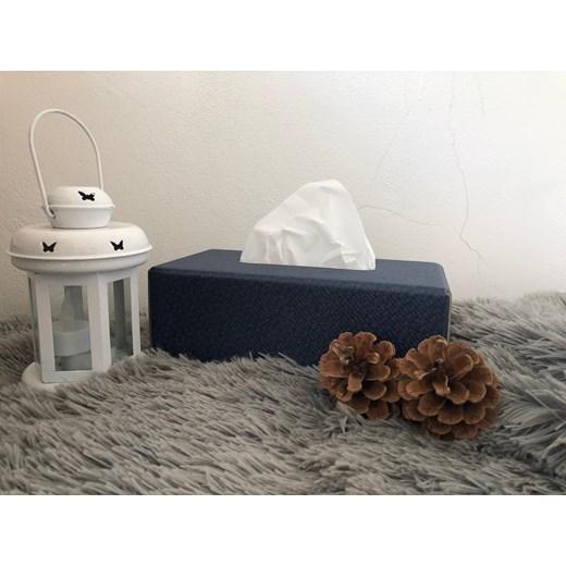 Tissues box rattan edition blue
