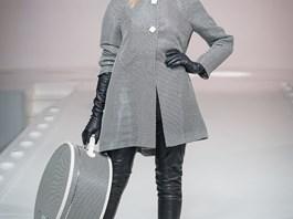 Kloboukovka Kazeto na módním mole s kolekcí Beaty Rajské v Moskvě