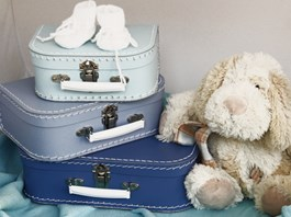 Dětský kufřík Kazeto modrý