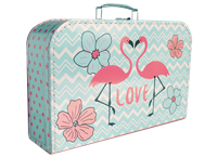 Children's suitcase 35cm flamingo