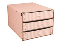 Drawer box A4 pink with white stripes
