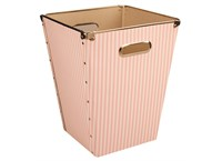 Conical box pink with white stripes