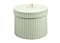 Round box 20cm green with white stripes