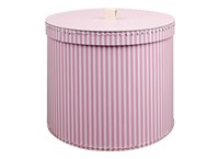 Round box 30cm pink with white stripes