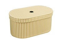 Oval box 27cm natural with stripes