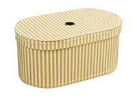 Oval box 31cm natural with stripes