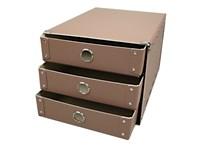 Drawer box A4 brown